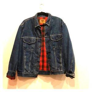 Vintage GAP Flannel-lined Trucker Denim Jacket